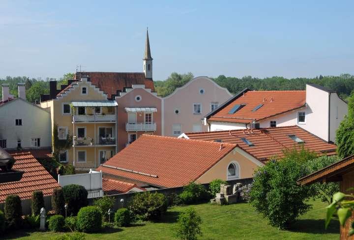 Am Stadtberg - Hinterhof-Hausgiebelensemble mit Katharinenkirche