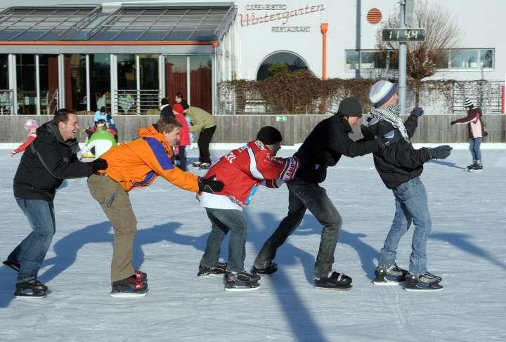 Eislaufplatz am Wintergarten