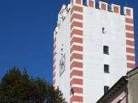 Blick auf den Nagelschmiedturm aus der Feuergasse