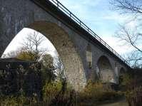 Ehringer Zugbrücke über den Inn - Die trutzigen Brückenpfeiler