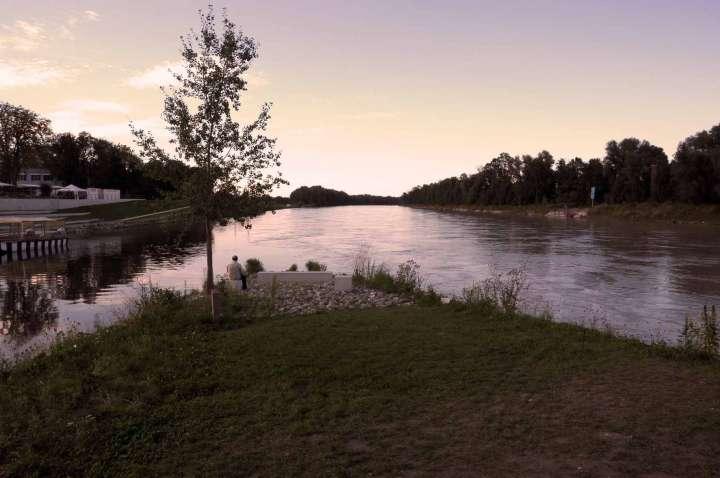 Der Innspitz - Mündung der Mangfall in den Inn - Sonnenuntergang - Ein Ort der Ruhe und des Inneren Ausgleichs