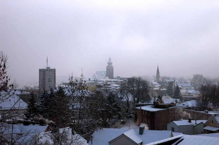 Frostig ists in Mühldorf - Schnee liegt in der Luft
