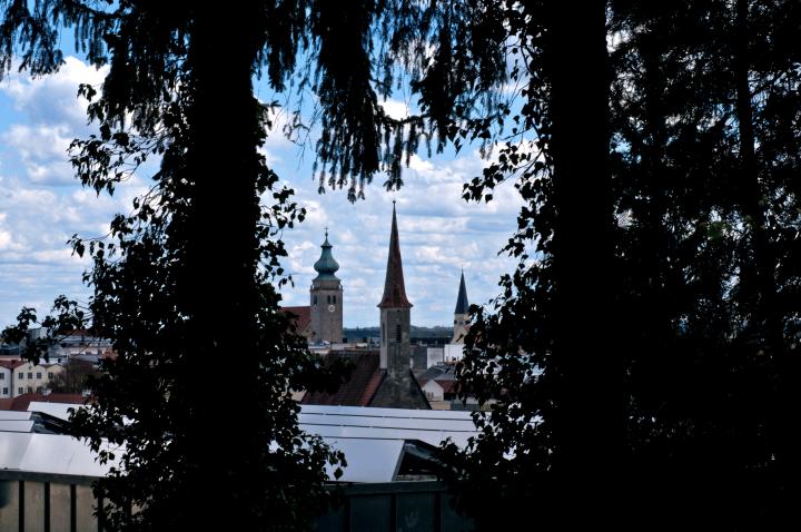Zu Beginn des Frühjahrs, wenn noch nicht an allen Zweigen die Blätter treiben und die Sicht auf die Altstadt verdecken, eröffnet sich dem Betrachter manch unverhofft schöne Aussicht
