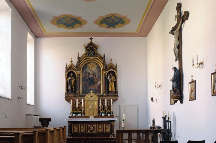 Im Heilig-Geist-Spital in der Spitalgasse Mühldorfs, befindet sich noch eine zweistöckige Kapelle